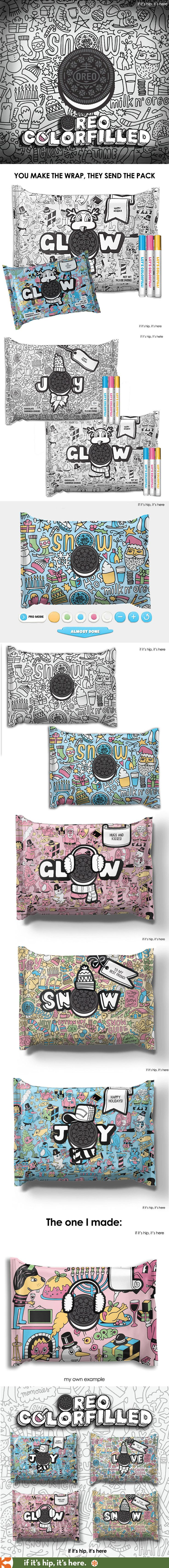 OREO's new customizable and color-in packaging is awesome!  #oreocolorfilled