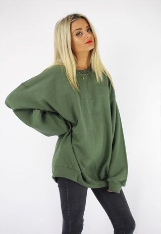 Basic oversized boyfriend sweater khaki