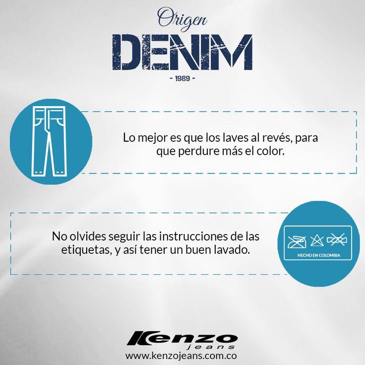 Tips del día, ¿No sabes cómo cuidar tus jeans? Aquí te mostramos lo sencillo que puede ser que tus jeans se vean como nuevos. #KenzoJeans #OrigenDenim www.kenzojeans.com.co/origen-denim/