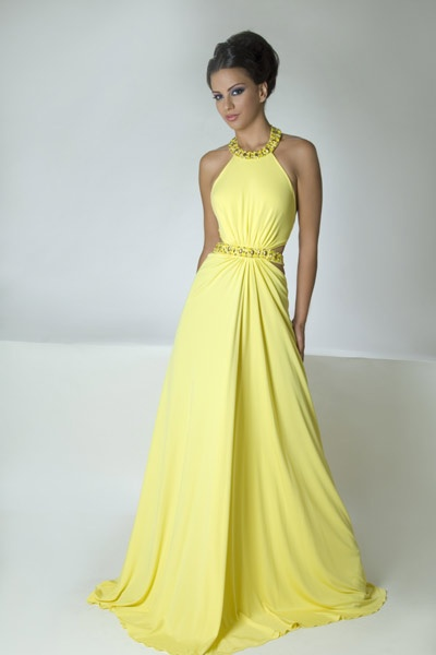 Robes d'été 2012 - Jaunes Robes 2012   Mode et Beauté