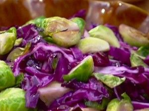 Sautéed Brussels sprouts and Red Cabbage