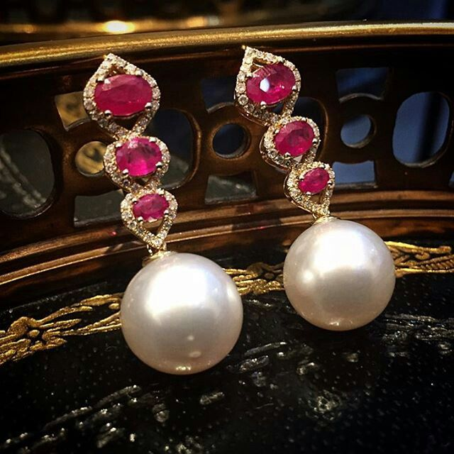 @imperialejoyeros. Rubies & South Sea Pearls. Unique pieces of jewelry