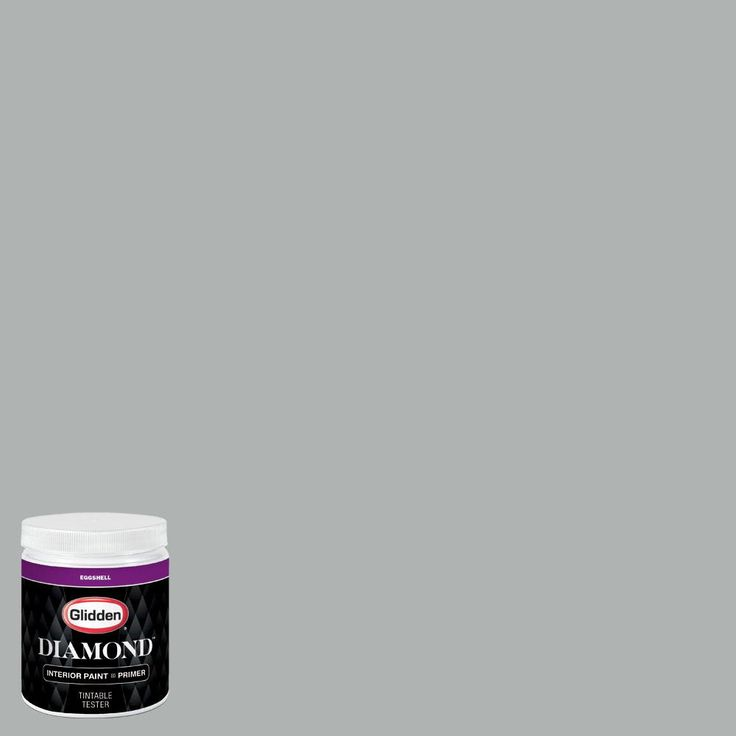 Glidden Premium 8 oz. #BB-064E Los Angeles Angels of Anaheim Silver Eggshell Interior Paint with Primer