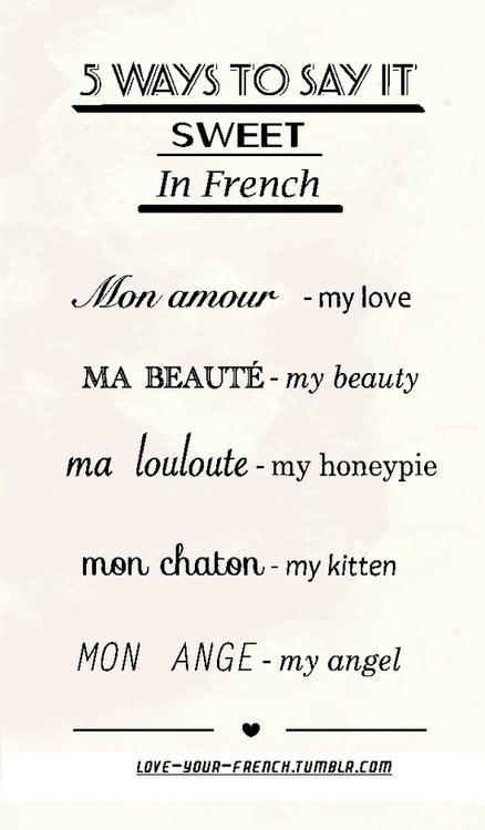 """Sweet"" in French   #Courconnect #Courses #Languages"