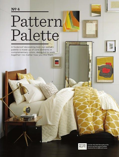 West Elm bedding. Love the patterns but in a different color.