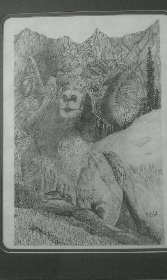 """King"" Pencil art by Vicki Lind"