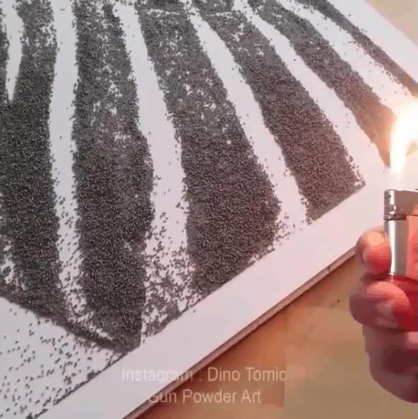 Gun Powder Art - Zebra