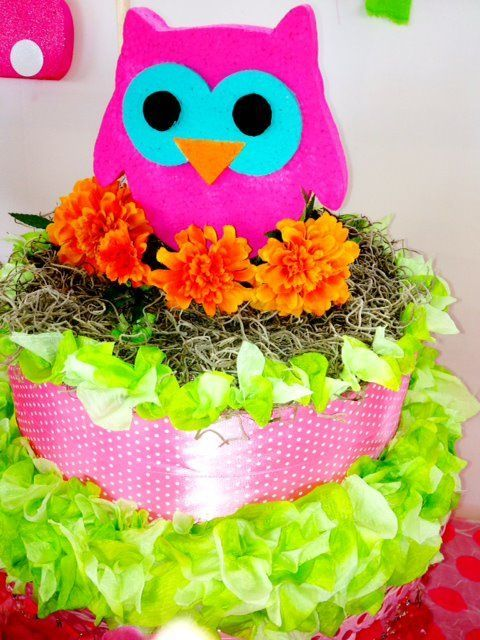 whimsical printables: owl party centerpiece