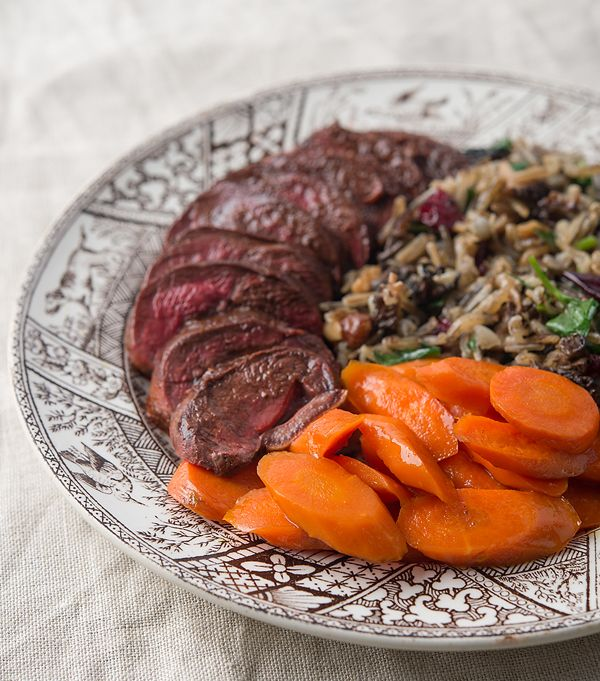 A classic American combination, wild rice and duck are made for each other. This pilaf adds black walnuts and dried cranberries to the mix. A great Sunday supper. Recipe on http://honest-food.net
