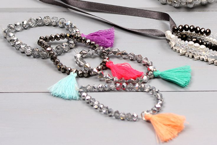 Move over pom poms, tassels are set to be the accessory trend for 2016. Take your bracelets to a whole new level with these cute bead and tassel bracelets.