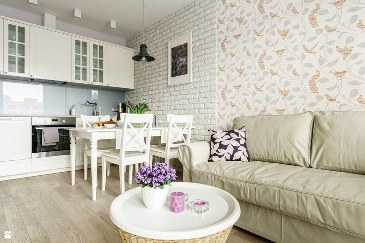 Salon styl Prowansalski - zdjęcie od Anna Serafin Architektura Wnętrz - Salon - Styl Prowansalski - Anna Serafin Architektura Wnętrz