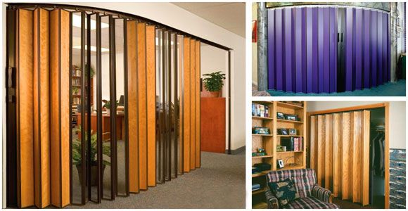 Puertas plegables que aislan el sonido, el calor. Resistentes a la humedad y otros factores.