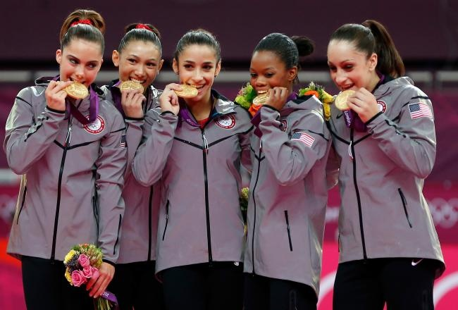 What a great moment~USA Women's Gymnastics Gold Medal Winner 2012