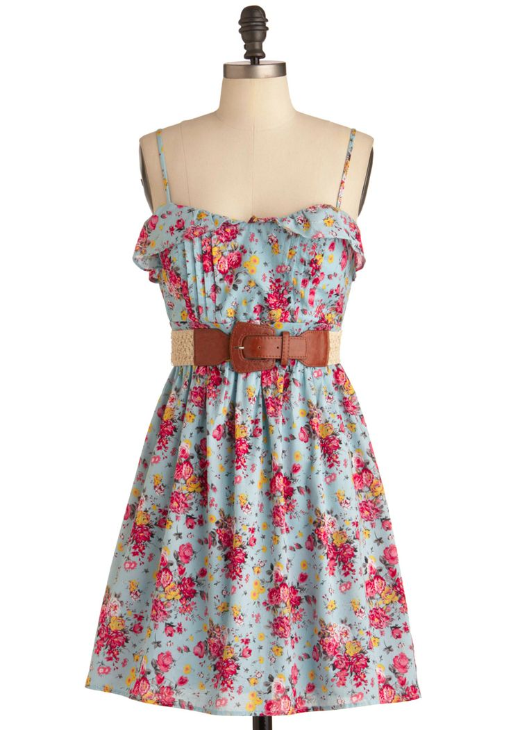 CUTE!: Summer Dresses, Style, Spring Summer, Paintings Dress, Handpicked Paintings, Belt, Floral Dresses, Modcloth Com