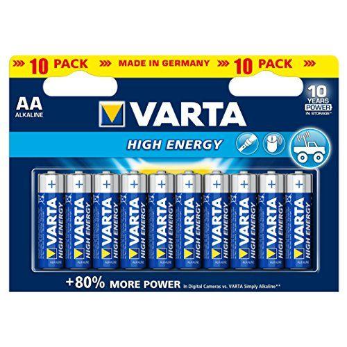 Varta High Energy Batterie AA Mignon Alkaline Batterien LR6 - 10er Pack #Varta #High #Energy #Batterie #Mignon #Alkaline #Batterien #Pack