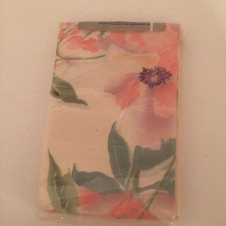 Pink Floral Pillowcases Standard Pair by Burlington USA NOS #Burlington