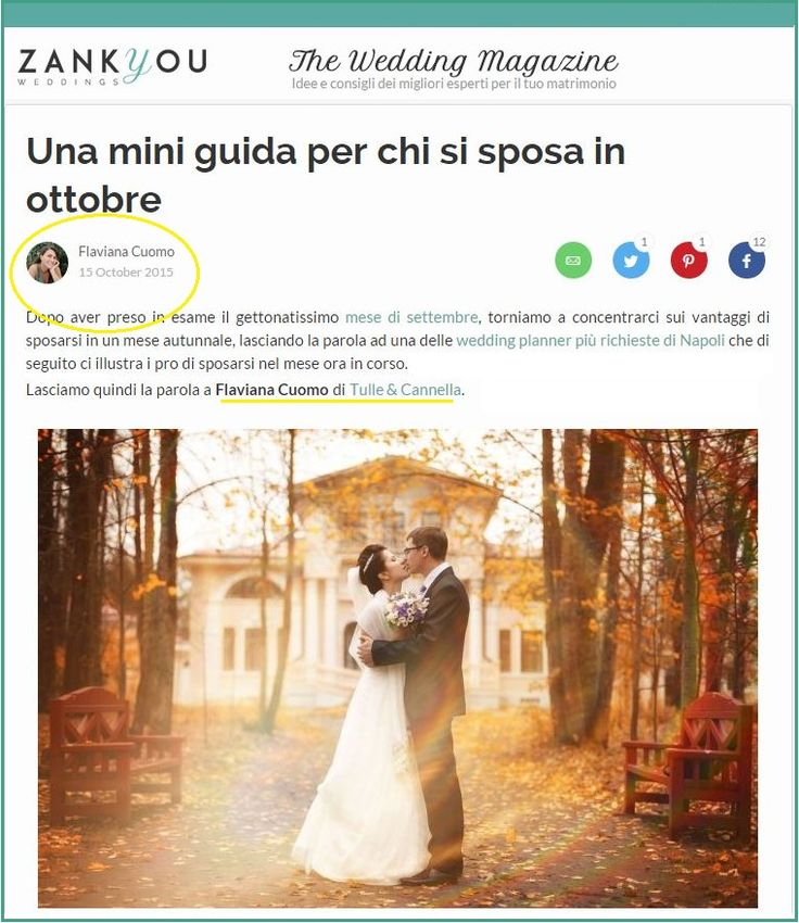 Mini guide for an amazing wedding in october. My interview for Zankyou Magazine <3