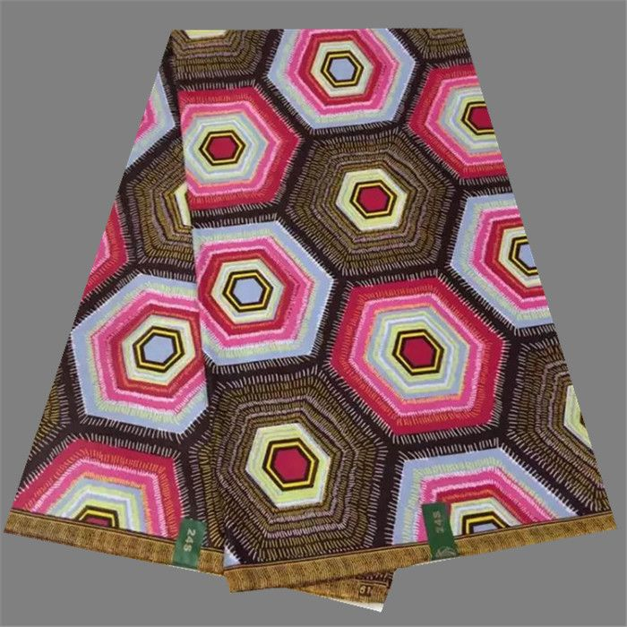 Хороший воск ткань анкара печати ткань воска хлопка батик ткань для шитья платье WF459 (6 ярдов/серия)