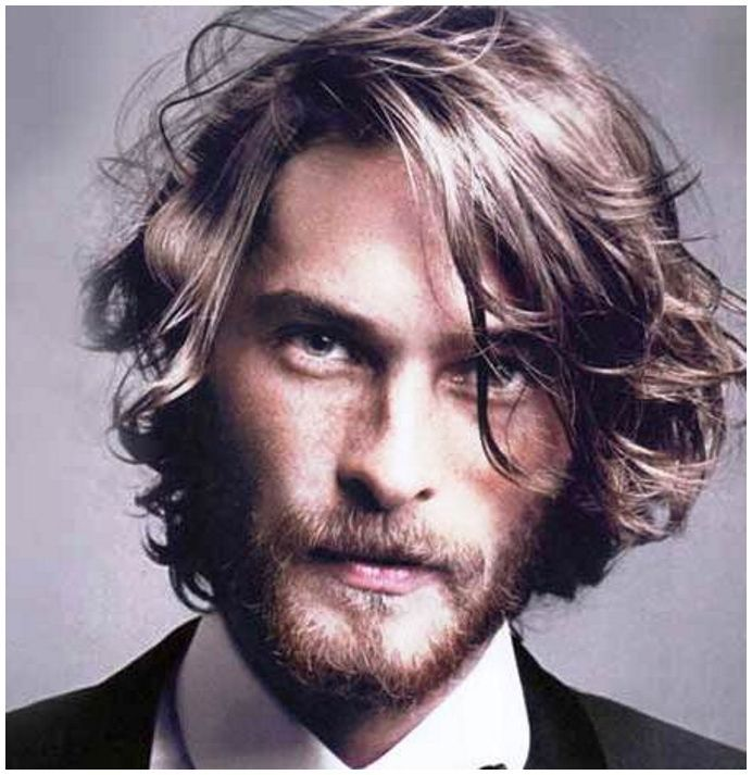 Hairstyles Thick Curly Mens Long Hairmens Hairstyles Long