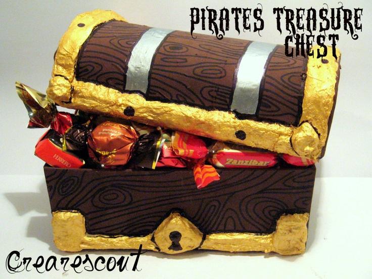 treasure chest - tutorial!Tutorials, Crafts Ideas, Lavoretti Bambini, Il Forzier, Forzier Tesoro, Parties Ideas, Tesoro Cartapesta, Forzier Del, Crear Scouts