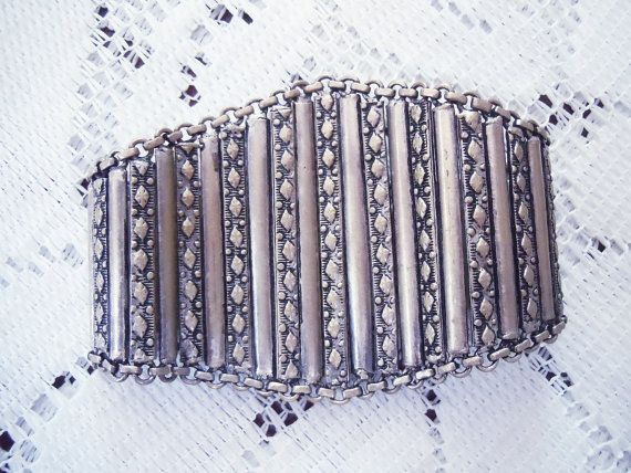 Grande bracciale vintage in argento tibetano effetto anticato, vintage gioielli donna, vintage