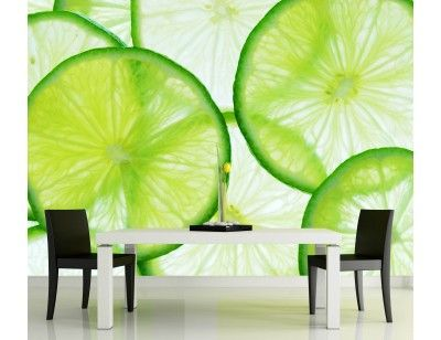 """Lime Slice"". A wallpaper mural from Muralunique.com."