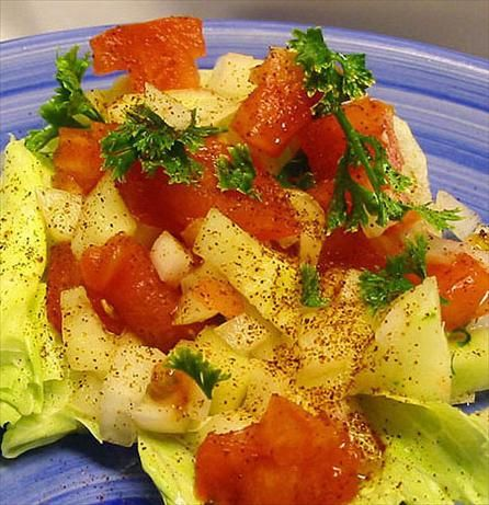 Simple Iranian Salad. Photo by Caroline Cooks
