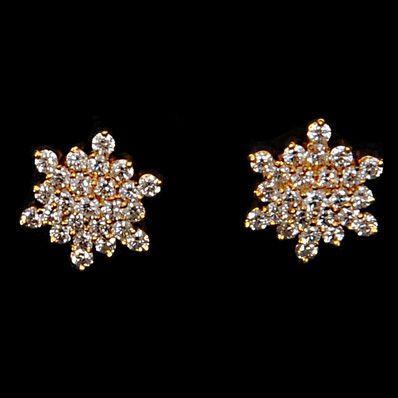 Diamond Studded Nakshatra Earrings, for my mom