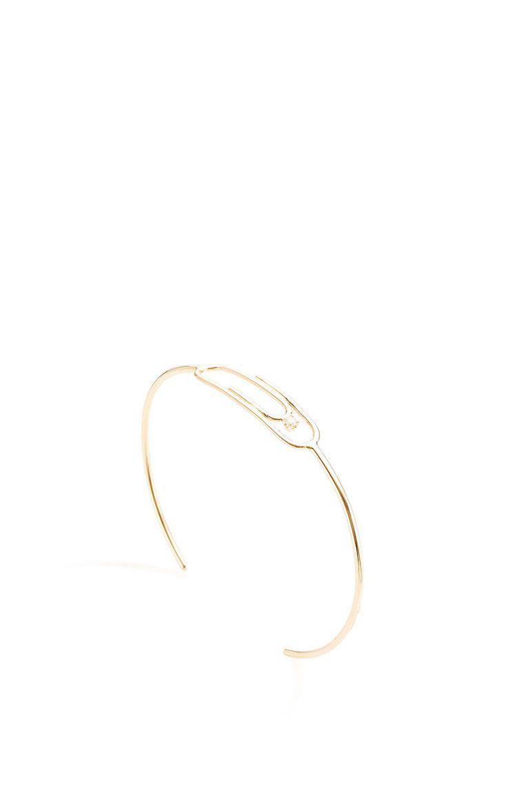 Paperclip Bracelet With Diamond by Lauren Klassen for Preorder on Moda Operandi