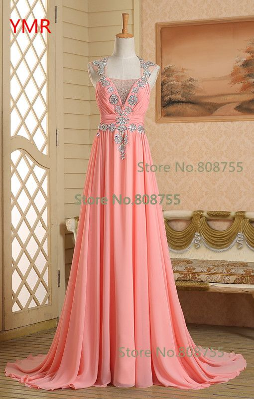 >> Click to Buy << Cheap 2016 Real Photo Beading Stunning Fast Delivery Chiffon Long Evening DressesUs Size 2 4 6 8 In Stock GK011 #Affiliate