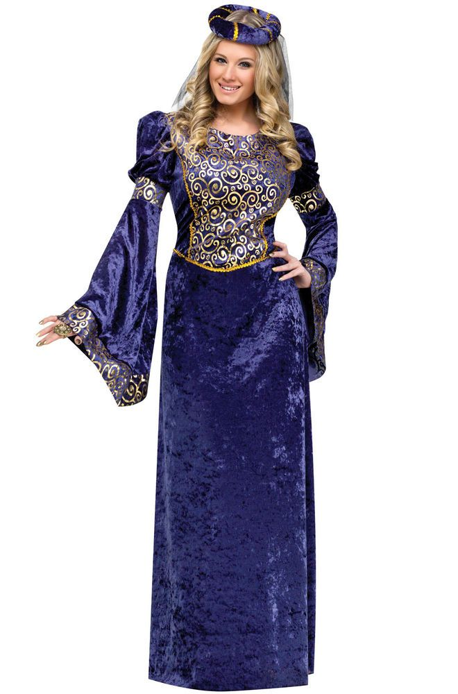 Details about Brand New Royal Renaissance Maiden Adult Costume