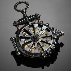"""Solar Turbine"" Steampunk Pocketwatch"