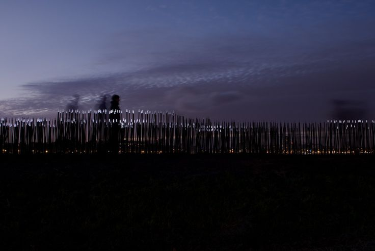 Dune is the interactive landscape of thousands of LED light fibers by Studio Roosegaarde which interact with the sounds and motion of people.