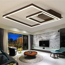 NEO Gleam Sqare Modern Led Ceiling Lights For Living Room Bedroom Home Dec Matte Coffee Color Led Ceiling Lamp lampara techo(China (Mainland))