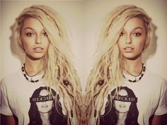 Blonde dreads - I don't have the guts but this style is beautiful!