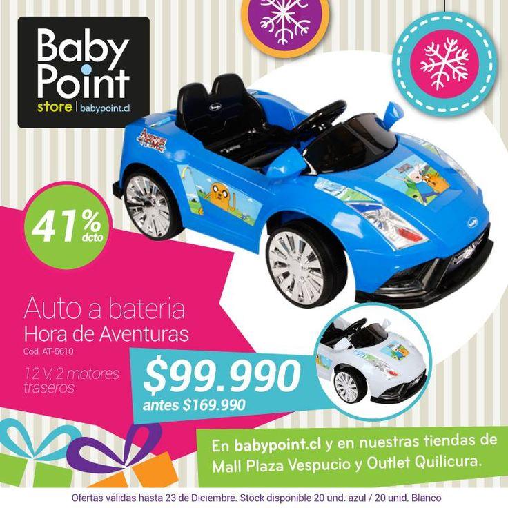 #NavidadBabyPoint 41% de descuento en auto a baterias ¡Es hora de una aventura! Adelanta las compras de tus regalos navideños aquí-> bit.ly/1Hwdx88