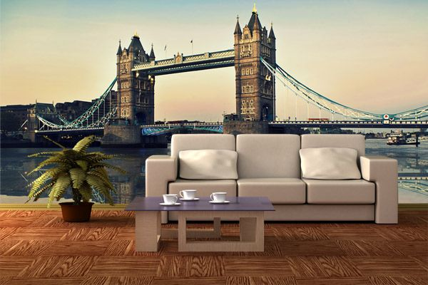 Fotomurales London Bridge. Ideas decoración academia de inglés #decoración #academia #inglés #ideas #vinilo #TeleAdhesivo