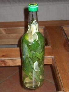 Rhum Citrons verts & Basilic - Recette, préparation et conseils sur Rhum arrangé .frk  Beyaz merkezi şerit çıkarırken dilimler halinde limon kesin.Şişe içinde yerleştirin.Fesleğen sapları, şeker ve rom ekleyin.Mix!