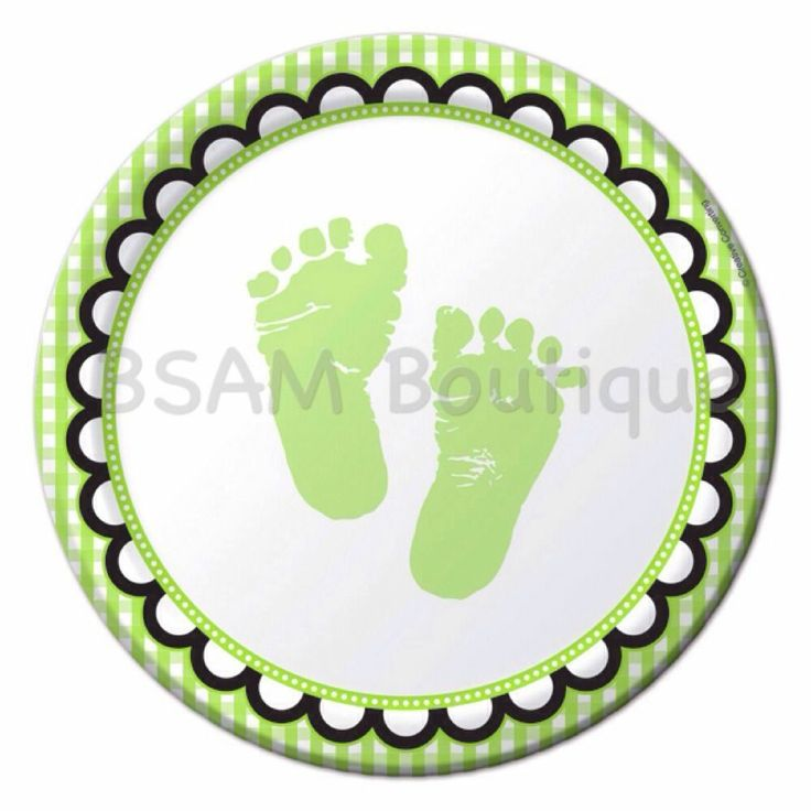 Sweet Baby Feet Small Luncheon Plates