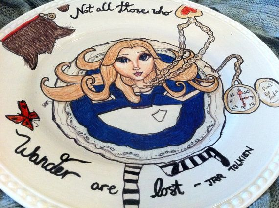 Alice In Wonderland Classroom Decoration Ideas ~ Not all those who wander are lost jrr tolkien alice