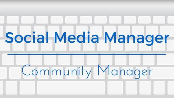 #SocialMediaManager vs #CommunityManager