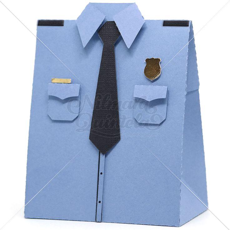 Police Uniform Box – Nilmara Quintela Paper Designer