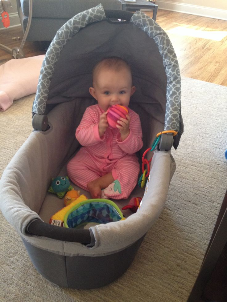 Reuse The Baby Bassinet As A Safe Portable Play Space It