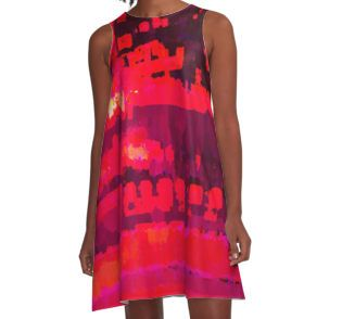 Worlds Within Worlds A-Line Dress