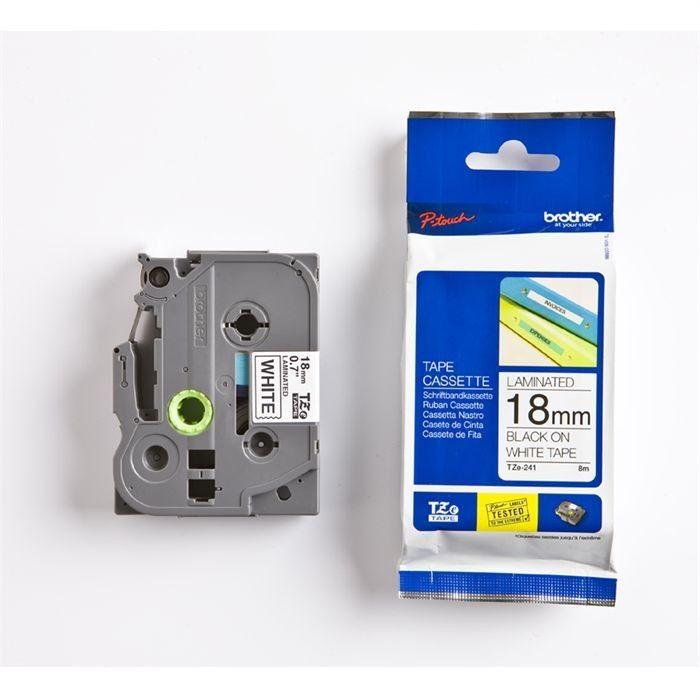 Brother Ruban Tiqueteuse P Touch Tze 241 18mm Etiqueteuse Ruban Papier Thermique