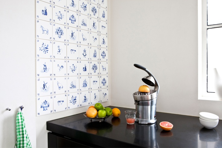 ixxi special: Royal Delft. Contemporary room divider or wallpaper from original Delftware.  #wallart #delftware #interior $170.00