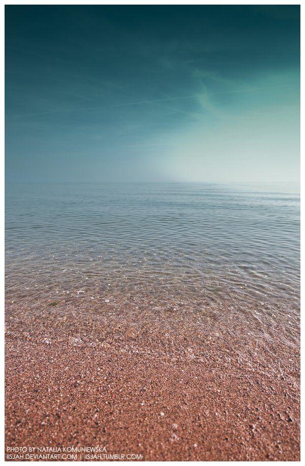 Calm sea | Red sand by iisjah.deviantart.com on @deviantART
