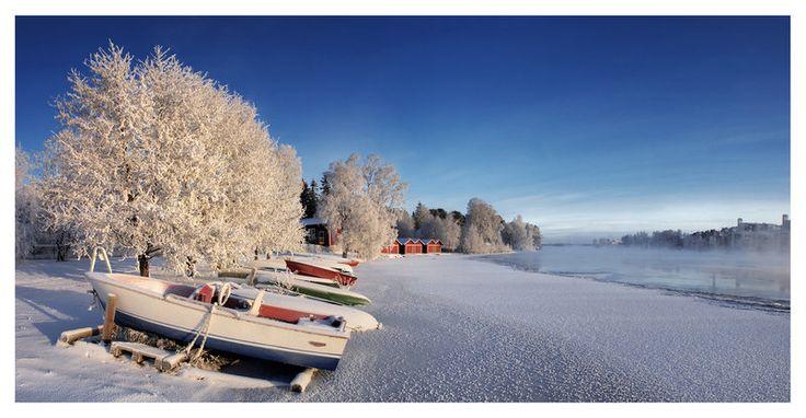 Oulujoki Winter Panorama by jjuuhhaa