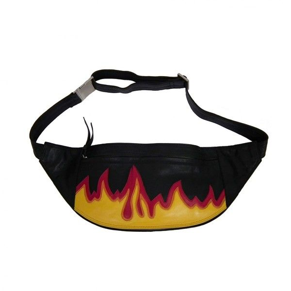 Fire Bum Bag ($285) ❤ liked on Polyvore featuring bags, belt bag, leather bum bag, fanny pack bags, hip fanny pack and bum bags