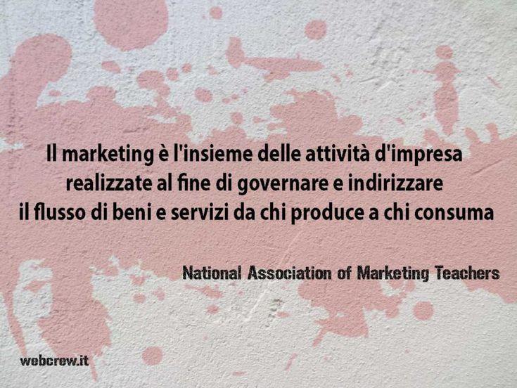 Prima definizione di marketing della NAMT.